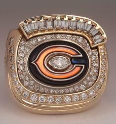 "2006 Chicago Bears Super Bowl XLI ""N.F.C."" Champions 10K Gold & Diamond Player's Ring"