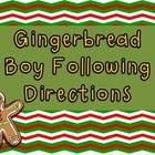 The Gingerbread Boy Following Directions activity is perfect to use for a reading grade or it can be used at a center just for fun! Children simply...