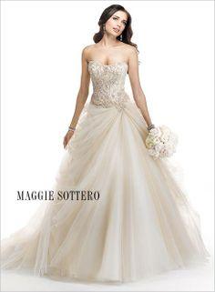 Romantic ballgown #wedding #dress by #maggiesottero... Stunning!