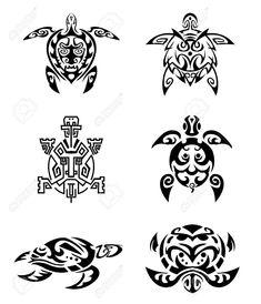 13816952-Turtle-tattoo-set-Stock-Vector-maori.jpg (1116×1300)