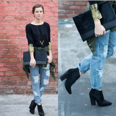 Three Of Something Top, Love Nail Tree Necklace, One Teaspoon Jeans, All Saints Boots