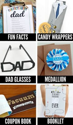 A HUGE list of cute Father's Day Crafts & free printables for dad.