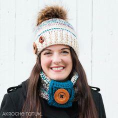 hat crochet pattern  Tuque patron au crochet Crochet Patterns, Winter Hats, Crochet Hats, Etsy, Knitting, Accessories, Pom Poms, Boss, Knitting Hats