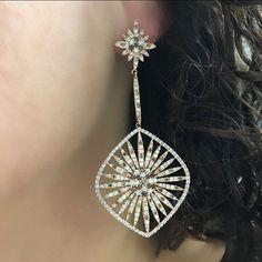 Starstruck? So am I. SHOP NOW at www.jenkdesignsny.com  #diamond#earrings#sunday#weekend#love#star#starstruck#dress#jenk