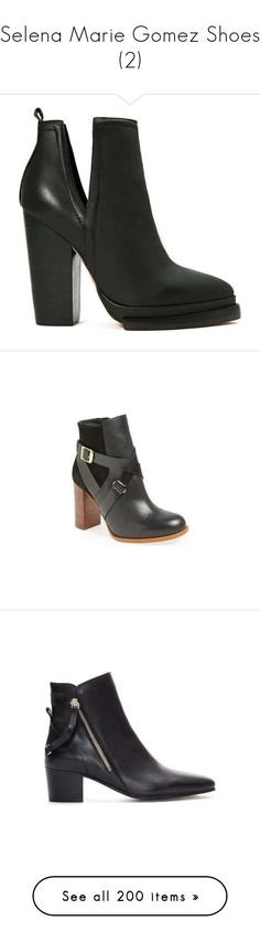 """Selena Marie Gomez Shoes (2)"" by taught-to-fly19 on Polyvore featuring shoes, boots, jeffrey campbell footwear, genuine leather shoes, jeffrey campbell, leather boots, real leather boots, ankle booties, short boots e ankle bootie boots"