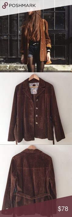 Wilson Brown Suede Belted Jacket See above Wilson Jackets & Coats