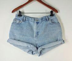 PLUS SIZE High Waisted Denim Shorts  High by TomieHarleneVintage, $17.99