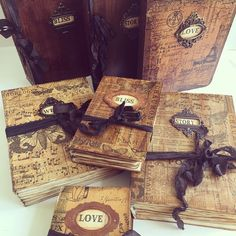 Quick Flick Video uploaded to YouTube of these beauties! My channel name is The Paper Addiction #vintagejournal #handmadebooks
