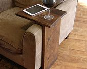 Sofa Chair Arm Rest TV Tray Table Stand. I like the clean lines of this.