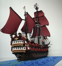 Bateau Pirate Lego, Bateau Lego, Lego Pirate Ship, Lego Ship, Pirate Ships, Lego Cars, Lego Boat, Legos, The Hobbit Game