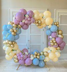Balloon Flowers, Balloon Arch, Balloon Garland, Birthday Balloon Decorations, Backdrop Decorations, 21st Bday Ideas, Balloons Galore, Safari Theme Party, Gift Bouquet