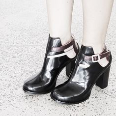 This is Arrowhead a bootie/heel that's workin' it for fall! #charrowheadshoes #heels #shoes #boots