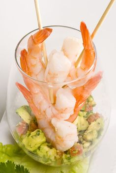 Lime Shrimp with Avocado Salsa