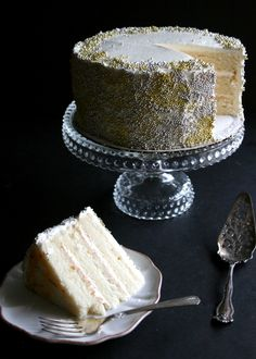 Champagne and St. Germain Layer Cake