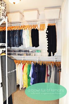 How to organize the master closet | A Bowl Full of Lemons