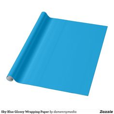Sky Blue Glossy Wrapping Paper