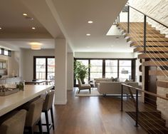 Contemporary Open Floor Plan Design, Pictures, Remodel, Decor and Ideas - page 14