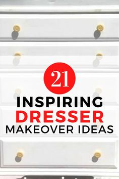 Do you love furniture flips and upcycling? check out these 21 creative before and after painted furniture makeovers. Some are vintage, some are ikea but they are all beautiful and full of inspiration and you'll find what you love if you're decorating on a budget. #diy #dresser #makeover Diy Furniture Decor, Diy Home Decor Projects, Home Improvement Projects, Furniture Makeover, Painted Furniture, Old Dressers, Repurposed Items, Do It Yourself Crafts, Weekend Projects