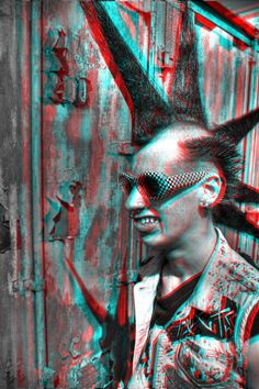 Stereoscopic 3D Effect with Anaglyph Images