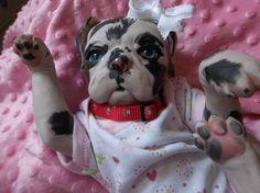 Custom made to order reborn puppy dog art doll vinyl Princess Pug kit