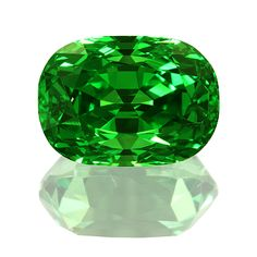 Garnets come in a wide range of colors including green like this Tsavorite garnet.