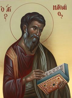 St Mathew, Byzantine Icons, Orthodox Christianity, Art Icon, Orthodox Icons, Christian Art, Religious Art, Religion, Quotes