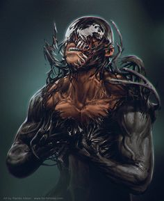 "When Eddie Brock acquires the powers of a symbiote, he will have to release his alter-ego ""Venom"" to save his life. Marvel Comic Books, Comic Book Characters, Marvel Characters, Comic Character, Comic Books Art, Comic Art, Marvel Villains, Marvel Venom, Marvel Vs"