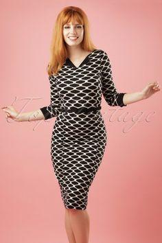 King Louie ~ 60s Audrey Maya Dress in Black