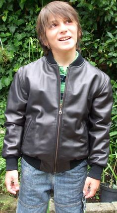 Boys Leather Bomber Jacket | Top leather 10 : Leather kids  Young