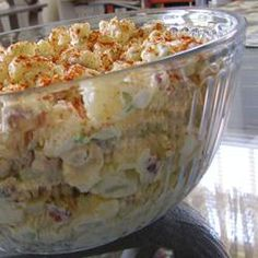 Potato and Bacon Salad--This is my favorite Potato Salad!  I replace half the celery with green onion and add MORE bacon.  SO yum.