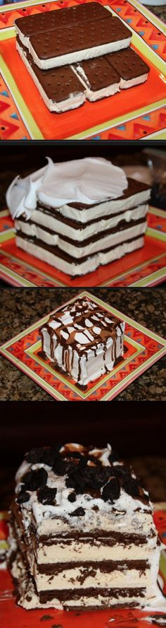 Ice Cream Sandwich cake that is to die for! This will be one of the easiest cakes you ever make!