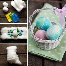 Еще один интересный способ покраски пасхальных яиц