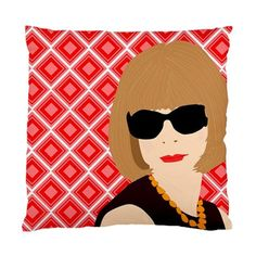 anna WINTOUR and karl LAGERFELD pillow case with by kayciwheatley