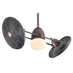 Minka-Aire F602-RRB Minka Aire One Light Dual Motor Ceiling Fan, Restoration Bronze Minka Aire http://www.amazon.com/dp/B000JZTICM/ref=cm_sw_r_pi_dp_CQLYvb0E88T58