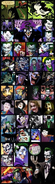 The Joker, en todas sus versiones :3 <3!!!