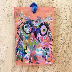 Merry Morepork/Owl Decoration Orange (1) Fun Facts, Gift Wrapping, Owl, Merry, Sparkle, Orange, Decoration, Pink, Christmas