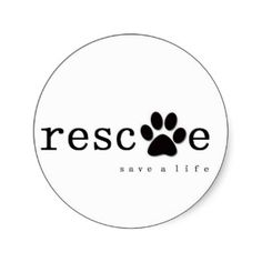 RESCUE -  Save A Life Sticker