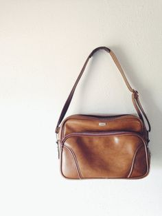 Vintage Cognac Airway Vegan Leather Carry-On