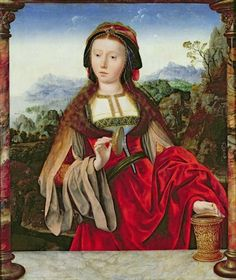 Quentin Massys (Quentin Metsys), c.1465-1530, St. Mary Magdalene, 1520-25.  Musée du Louvre, Paris.  Early Netherlandish Painting.