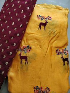 Fancy jute Georgette Sarees With Designer blouse | Elegant Fashion Wear