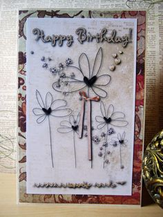 Handmade Happy Birthday Card by littledebskis on Etsy, $4.25 ~ SOLD!!!