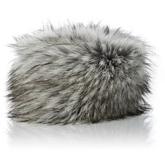 Imposter Women's Faux-Fur Cossack Hat ($135) ❤ liked on Polyvore featuring accessories, hats, grey, fake fur hats, gray hat, fox hats, grey hat and logo hats