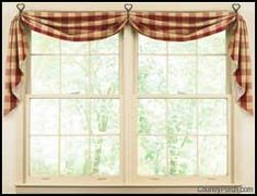 Find This Pin And More On Home Sweet Home By Lisajellybean27. Fishtail  Curtain Swags ...