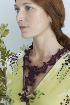 Lace Necklace - I have been using this pattern for the scarves I make.