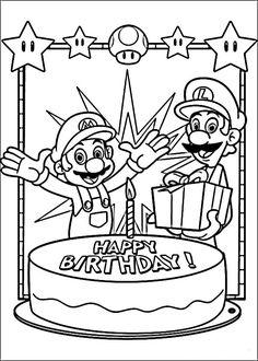 Mario Bross Tegninger til Farvelægning. Printbare Farvelægning for børn. Tegninger til udskriv og farve nº 15