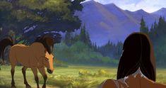 Spirit Stallion of the Cimarron Herd Spirit Horse Movie, Spirit Film, Spirit The Horse, Spirit And Rain, Mustang, Disney Horses, Horse Movies, Childhood Movies, Dreamworks Animation