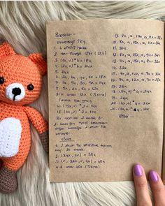 Fotoğraf açıklaması yok. Crochet Bunny Pattern, Crochet Fox, Crochet Animal Patterns, Stuffed Animal Patterns, Crochet Patterns Amigurumi, Amigurumi Doll, Crochet Animals, Crochet Dolls, Knitting Patterns