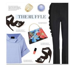 """""""All Ruffled Up"""" by polly301 ❤ liked on Polyvore featuring Barneys New York, Alexander McQueen, Givenchy, Erika Cavallini Semi-Couture, Ted Baker, JINsoon, Lauren Ralph Lauren, MAC Cosmetics and ruffles"""