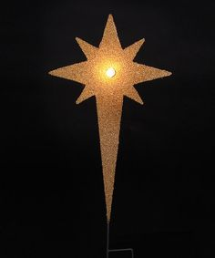 Loving this Gold Star LED Yard Stake on #zulily! #zulilyfinds