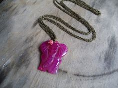 pink elephant by ljctree on Etsy, $15.00